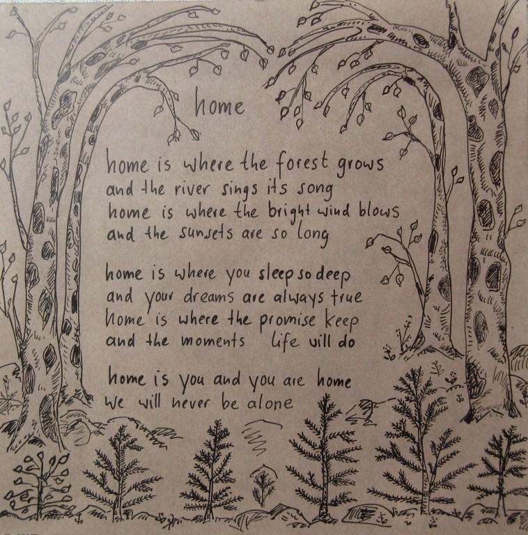 Dorikult Home Gedicht In Tusche Gefasst