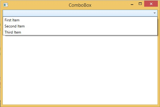 ComboBox control in WPF