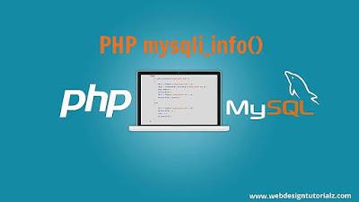 PHP mysqli_info() Function