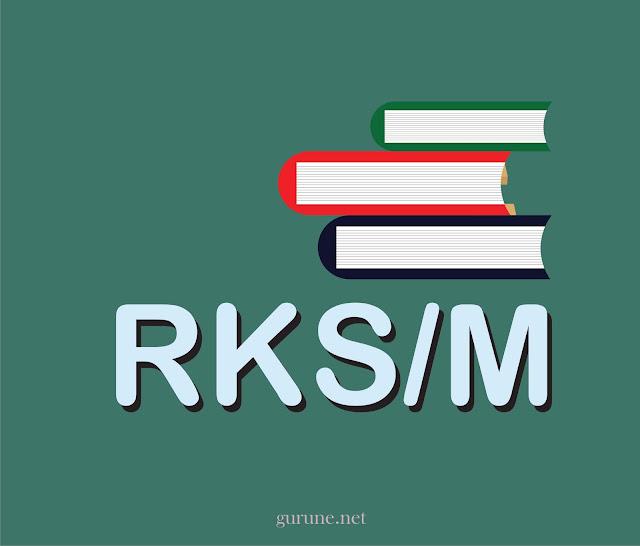 Pentingnya RKS/M  Pedoman kerja ( kerangka acuan ) dalam mengembangkan sekolah / madrasah; Dasar untuk melakukan monitoring dan evaluasi pelaksanakan pengembangan sekolah/madrasah; Bahan acuan untuk mengidentifikasi dan mengajukan sumberdaya pendidikan yang diperlukan untuk pengembangan sekolah/madrasah Tujuan Umum RKS/M  Sekolah / Madrasah mengetahui secara rinci tindakan - tindakan yang harus dilakukan agar tujuan,kewajiban, dan sasaran pengembangan sekolah / madrasah dapat dicapai     Tujuan Khusus penyusunan RKS/M  1.Menjamin agar tujuan dan sasaran sekolah/madrasah dapat dicapai;  2.Mendukung koordinasi antara pelaku sekolah/madrasah;  3.Menjamin tercptanya integrasi, sinkronisasi, dan sinergi baik intra pelaku di sekolah / madrasah, antar sekolah/madrasah, Dinas Pendidikan Kabupaten / Kota, Dinas Pendidikan Provinsi dan antar waktu;  4.Menjamin keterkaitan antara perencanaan, penganggaran, pelaksanaan, pelaporan dan pengawasan  5.Mengoptimalkan partisipasi warga sekolah/madrasah dan masyarakat;  6.Menjamin penggunaan sumberdaya sekolah/madrasah yang ekonomis,efisien,efektif, berkeadilan,berkelanjutan, serta memperhatikan kesetaraan gender.     Prinsip-prinsip Penyusunan RKS/M     1.Terpadu, mencakup keseluruhan program ( mencakup 8 Standar Nasional Pendidikan yang memprioritaskan pemenuhan Indikator SPM dan Akreditasi ) 8 Standar Nasional antara lain Standar Isi, Proses, SKL, Sarpras, Penilaian, Pendidik dan Pendidikan, Pembiayaan.  2.Multi-Tahun, Mencakup periode 4 tahun.  3.Multi-sumber, mengidentifikasi berbagai sumber dana  4.Berbasis kinerja  5.Partisipasi, melibatkan berbagai unsur.  6.Sensitif terhadap isu jender ( termasuk didalamnya Anak Berkebutuhan khusus / ABK )  7.Responsif terhadap keadaan bencana  8.Dimonitor dan dievaluasi secara berkala oleh sekolah dan stakeholder lainya.    Hirarki ( urutan ) perencanaan pemerintah daerah, SKPD dan satuan pendidikan  PEMKAB = RPJM --> RKPD -->RAPBD-->APBD  SKPD = RENSTRA -->RENJA -- > RKA-->DPA  SATUAN PENDI