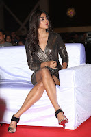 Pooja Hegde looks glamarous in deep neck sleevless short tight golden gown at Duvvada Jagannadham thank you meet function 089.JPG