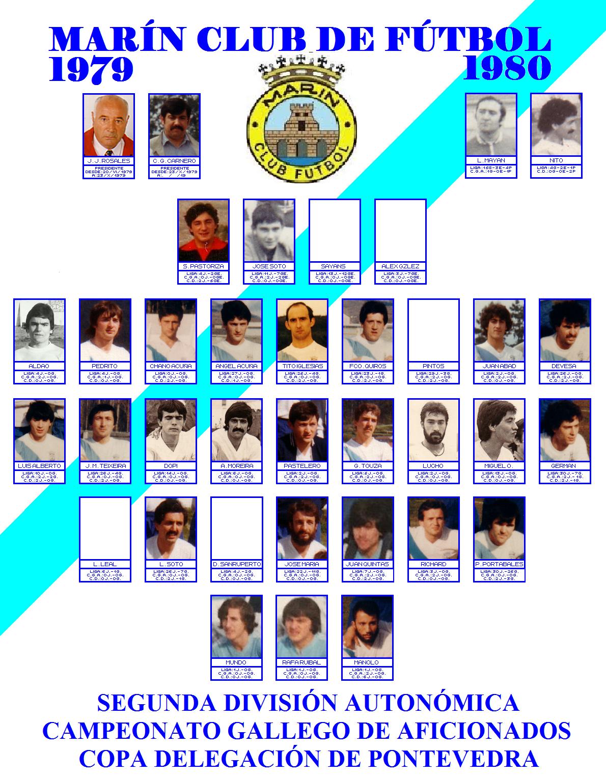LABERINTO DEPORTIVO de Sena: MARÍN CLUB DE FÚTBOL : 1979 - 1980