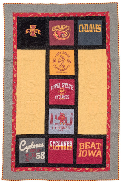 Cute T-shirt quilt from the Terrific T-Shirt Quilts book