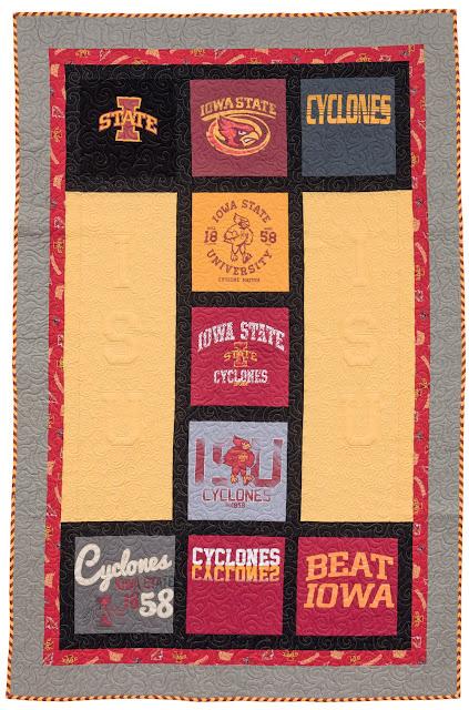 Cute T-shirt quilt from the Terrific T-Shirt Quilts book