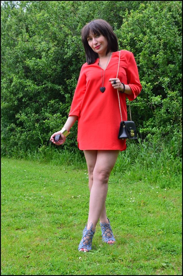 Adriana Style Blog, blog modowy Puławy, Classics, Czerwona Sukienka, Elegance, Elegancja, Fashion, Furla Bag, H&M Red Dress, Heeled Sandals, Klasyka, moda, Sandałki, Styl, Style, Stylizacja, Torebka