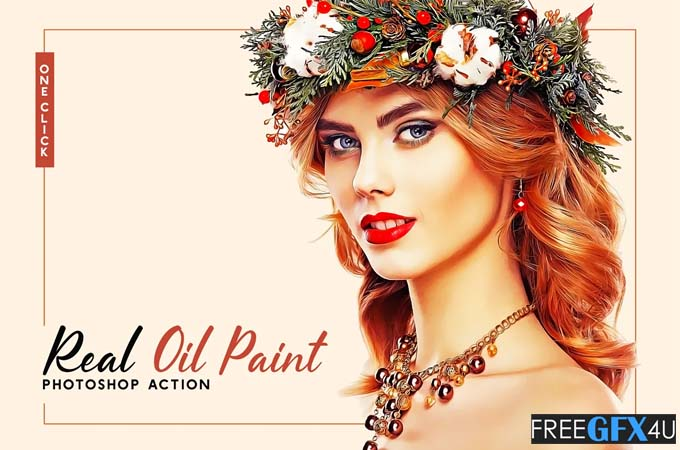 Real Oil Paint Photoshop Action
