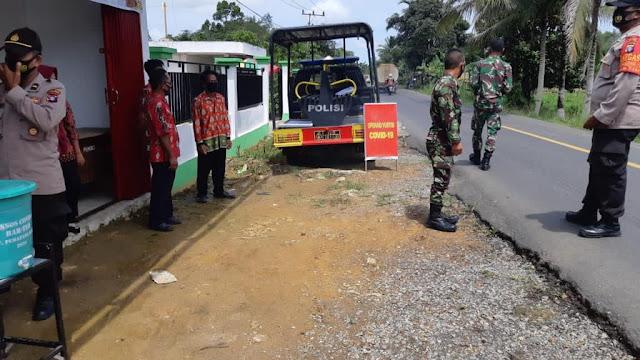 Kepolisian sektor pematang karau dan koramil 1012-06 bambulung Laksanakan ops yustisi di desa tumpung ulung