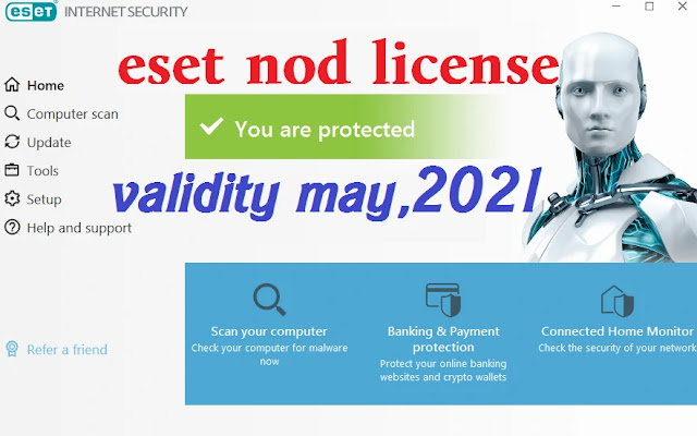 ESET NOD license key for all versions validity may,2021