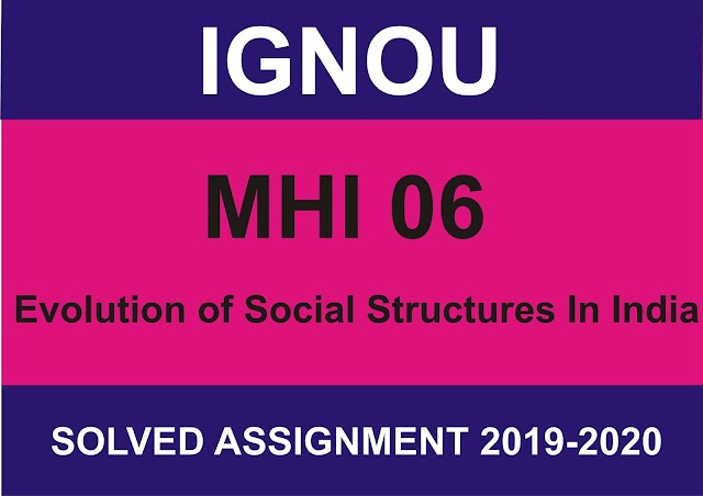 MHI 06 Solved assignment 2019-20