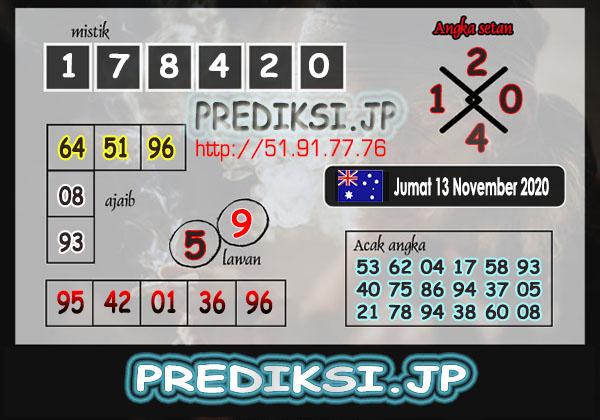 Prediksi JP Togel SD Jumat 13 November 2020