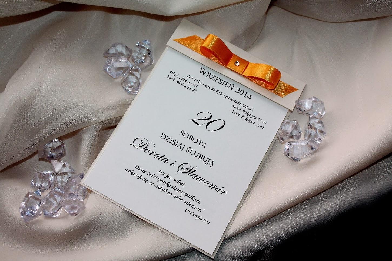 Zaproszenie ślubne Kartka Z Kalendarza