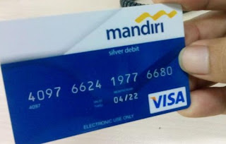 Mandiri Silver Debit design lama - Magnetic stripe