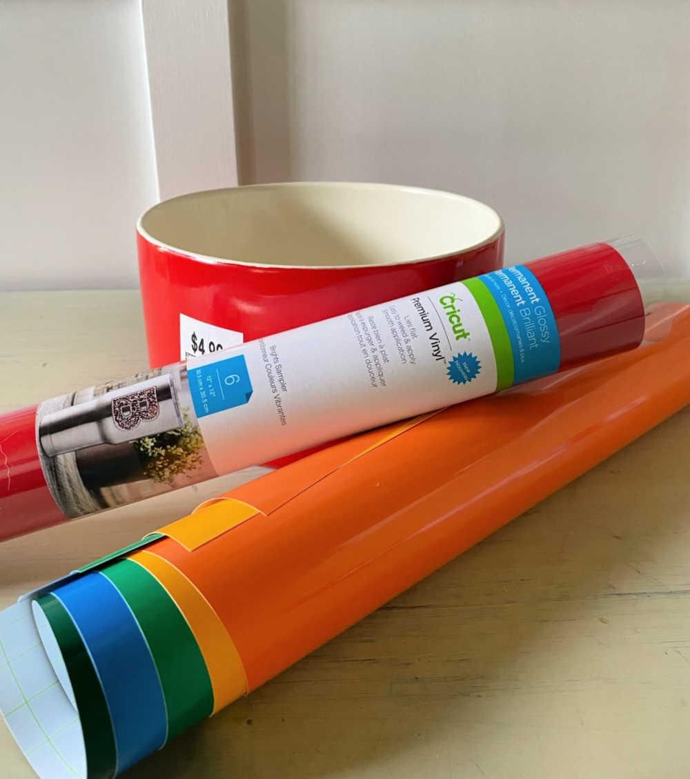 cricut vinyl dog bowl