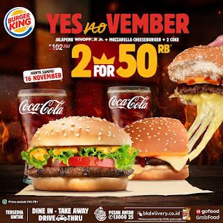 promo burger king 11.11 yesnovember