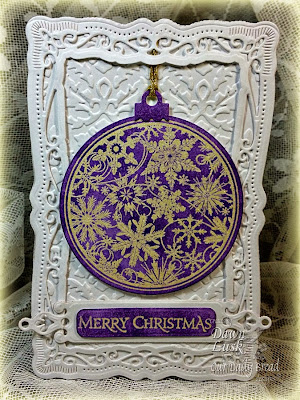 Stamps - Our Daily Bread Designs Christmas Pattern Ornaments, ODBD Custom Circle Ornaments Die