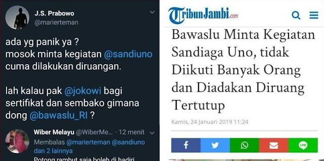 Bawaslu Minta Kegiatan Sandi Diadakan di Ruang Tertutup, JS Prabowo: Ada yang Panik ya?