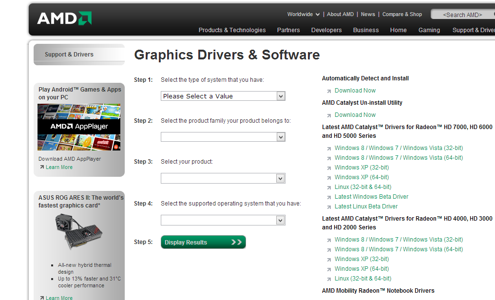 Amd 7400m Driver download