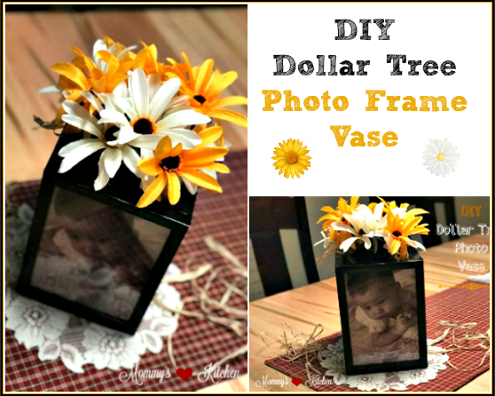 Mommy S Kitchen Recipes From My Texas Kitchen Diy Dollar Tree Photo Frame Vase