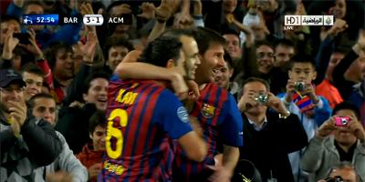 UEFA-8 : Barcelona 3 vs 1 Milan 03-04-2012