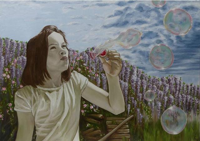 Cecile Pardigon painting