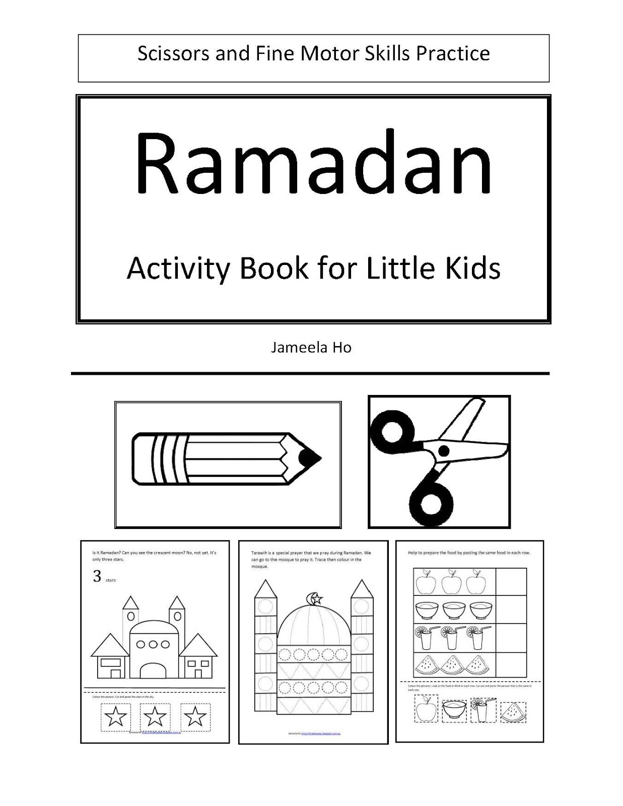 Ilma Education Free Download Ramadan Activity Book For Little Kids