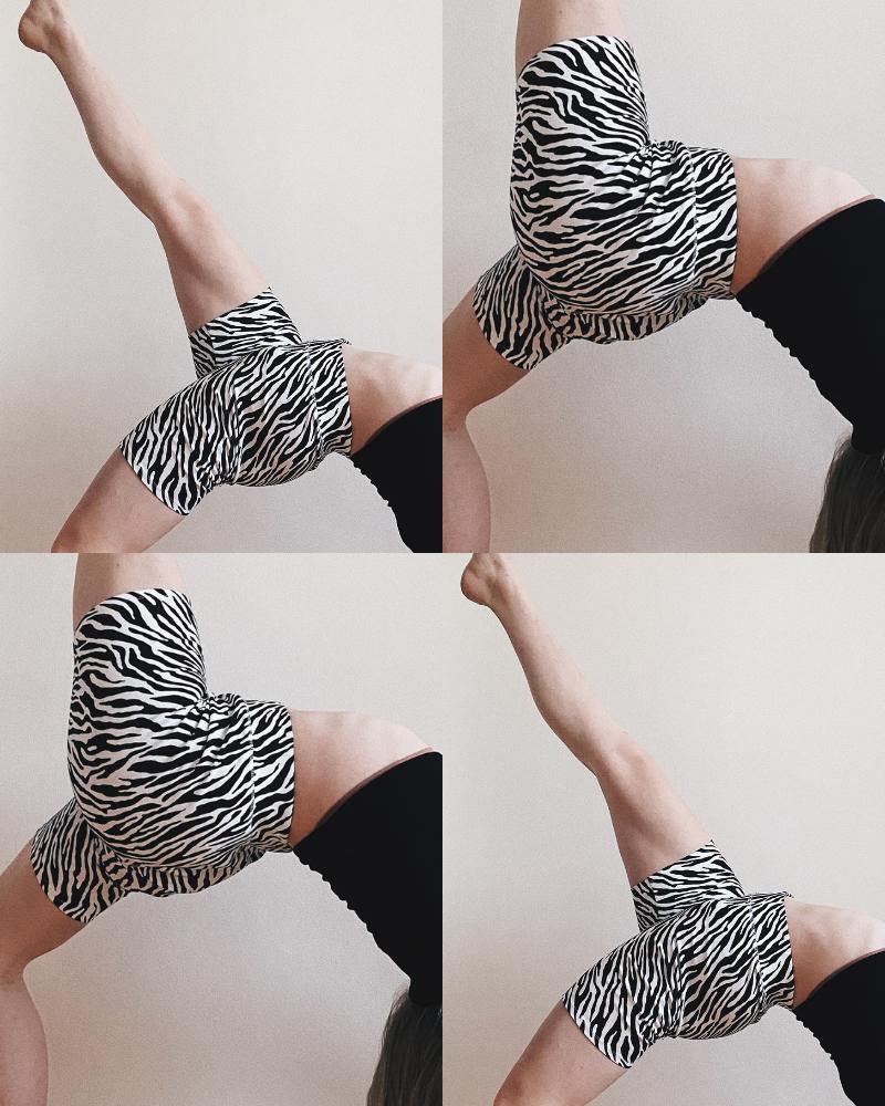 bicycle shorts, zebra print, cyklisticke shortky, bonprix