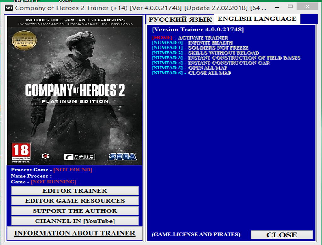 Company of Heroes 2 Trainer Version 4.0 64 Bit Free Download.