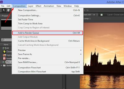 Cara Render Adobe After Effect Yang Benar