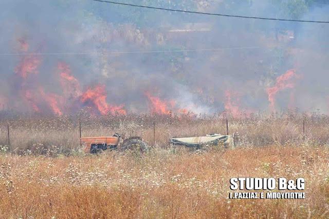 Αργολίδα: Πυρκαγιά στα Φίχτια