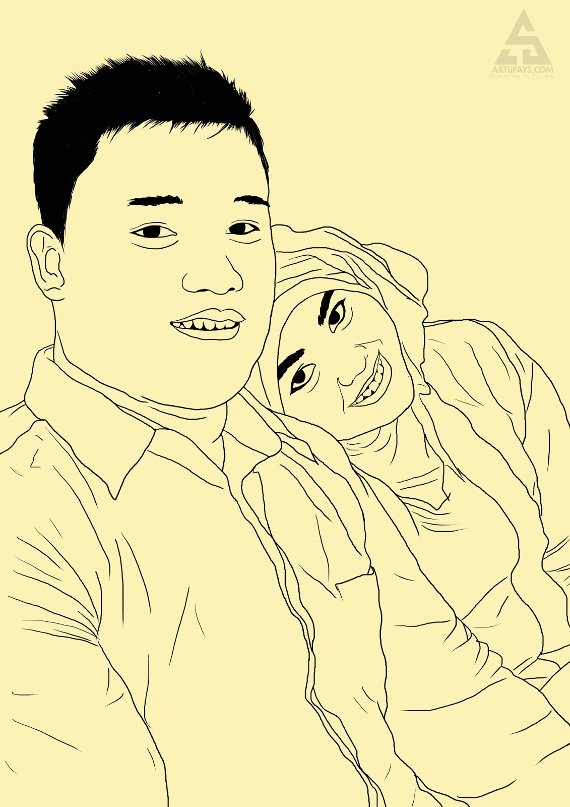 Line Art Wajah : Line art pemenang artquiz artupays