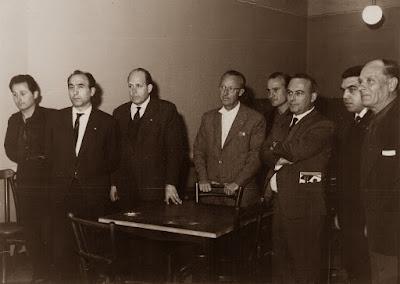 Entrega de premios del I Torneo Nacional de Ajedrez de Granollers 1964