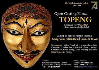 cari info open casting untuk mencari pemain film indonesia