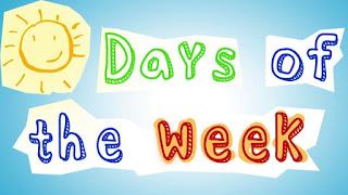 ايام الاسبوع بالانجليزية مترجمة - أيام الأسبوع بالإنجليزي للأطفال