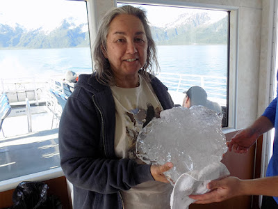 Holding a Chunk of Glacier Ice – Cold & Heavy