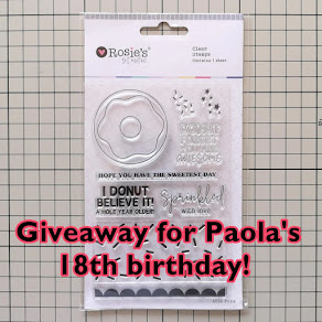 Giveaway for Paola's 18th birthday!