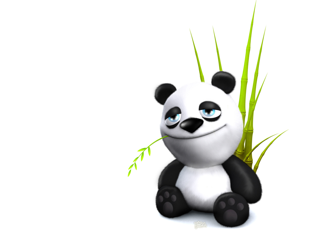 Funny Panda 3D Ipad Wallpaper
