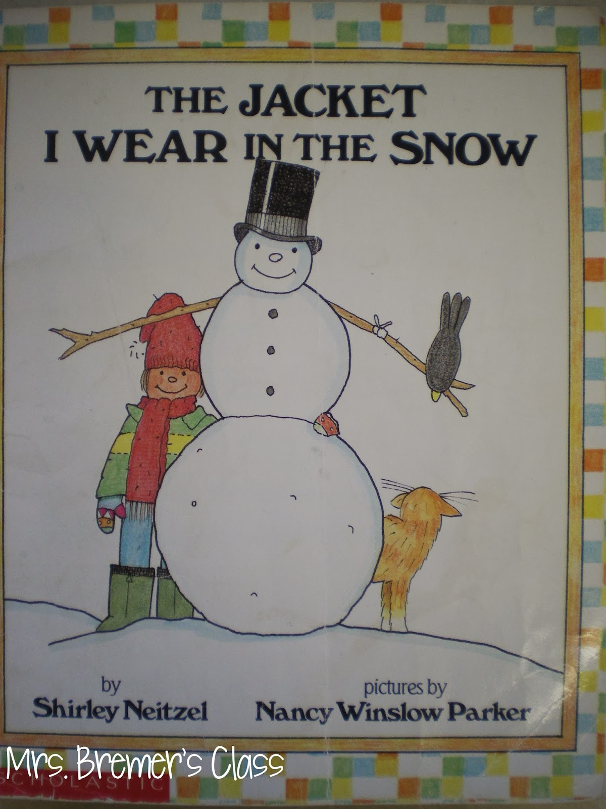 The Jacket I Wear in the Snow book study companion activities for Kindergarten and First Grade