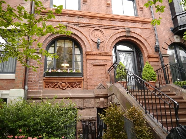 Back Bay townhouse exterior in Boston