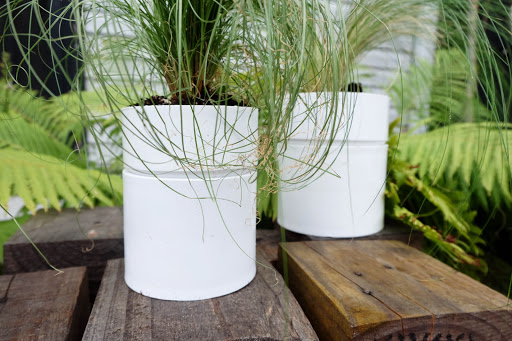 pvc coupling modern planters