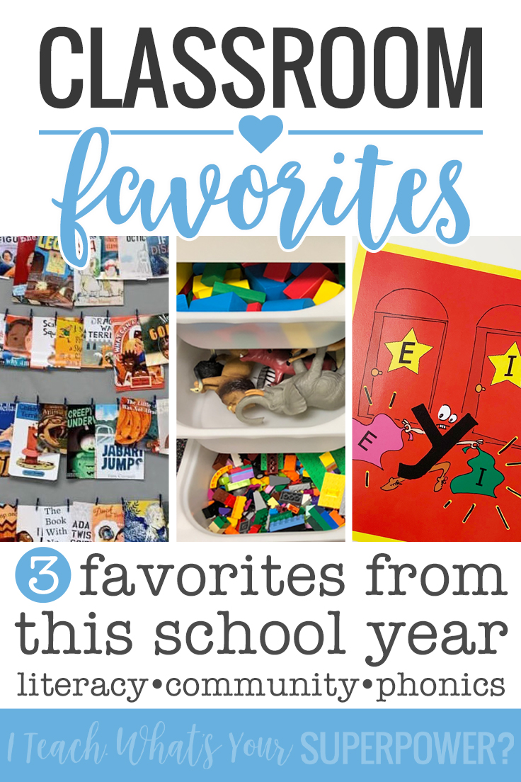Soft start, #classroombookaday, and Secret Stories were some of my favorite newer additions. Reading a book a day and our morning tubs helped build an authentic classroom community, and Secret Stories really helped carry phonics instruction from the lesson to application.