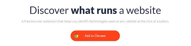 WhatRuns Chrome Extension