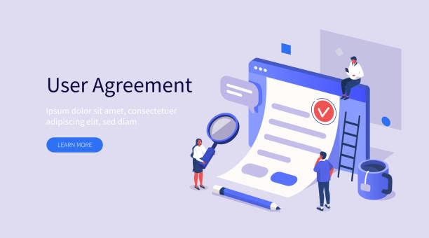 صفحة إتفاقية المستخدم لموقع اكاديمية التصميم الابداعي