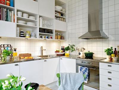 Scandinavian kitchen ideas with houseplants