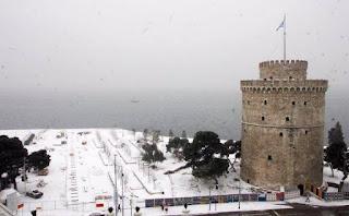 Θεσσαλονικη χιόνι βιντεο