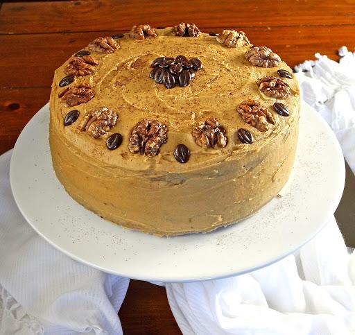 Traditional Coffee Walnut Cake