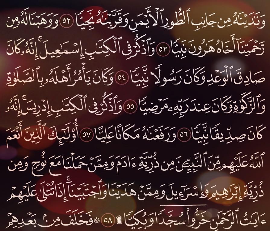 شرح وتفسير سورة مريم surah Maryam من الآية 39 إلى الاية 58