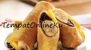 roti goreng gulung pisang coklat keju spesial