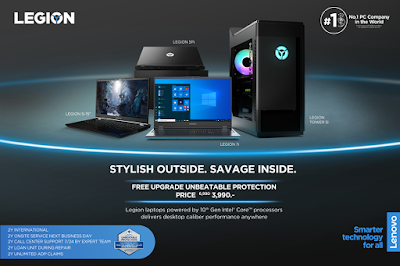 Lenovo ประกาศพร้อมวางจำหน่าย Lenovo Legion รุ่นใหม่ล่าสุดที่เกมเมอร์รอคอย พร้อมกันทั่วประเทศแล้ววันนี้