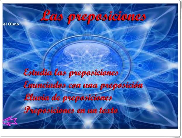 """""""Las preposiciones"""" (Lengua Española de Primaria)"""