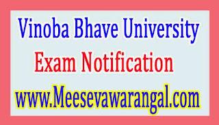 Vinoba Bhave University B.Tech VIIth Sem 2016 Exam Notification